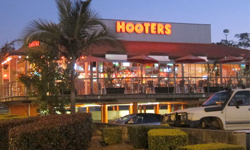 Hogging Down at Hooters